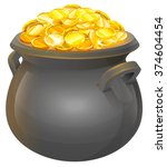 Full Cauldron Of Gold. Isolate...