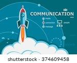 communication design and... | Shutterstock .eps vector #374609458