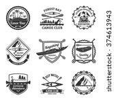 canoe and kayak sport clubs... | Shutterstock .eps vector #374613943