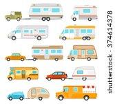 recreational vehicle icons set... | Shutterstock .eps vector #374614378