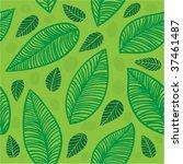 leaves seamless background 1 | Shutterstock .eps vector #37461487
