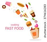 fast food vector illustration... | Shutterstock .eps vector #374616283