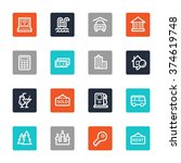 travel web icons set | Shutterstock .eps vector #374619748