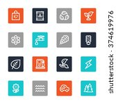 green ecology web icons set | Shutterstock .eps vector #374619976