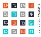 document web icons set | Shutterstock .eps vector #374620114