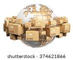 creative global logistics ... | Shutterstock . vector #374621866