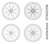 bicycle spoke wheel tangential... | Shutterstock .eps vector #374622106