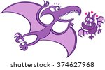 bold bat with sharp teeth and... | Shutterstock .eps vector #374627968