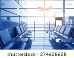 contemporary lounge with seats... | Shutterstock . vector #374628628