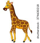 cute giraffe cartoon | Shutterstock .eps vector #374630218