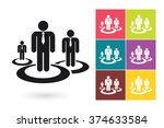 human resources management icon ... | Shutterstock .eps vector #374633584