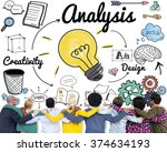 analysis analytics study... | Shutterstock . vector #374634193