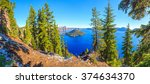 crater lake national park ... | Shutterstock . vector #374634370