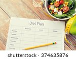 healthy eating  dieting ... | Shutterstock . vector #374635876