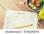 healthy eating  dieting ... | Shutterstock . vector #374635876