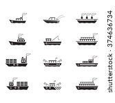 icon boats  vector | Shutterstock .eps vector #374636734