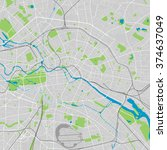 berlin vector map ultra... | Shutterstock .eps vector #374637049