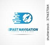fast navigation logo template... | Shutterstock .eps vector #374637064