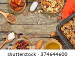 granola bars ingredients on...   Shutterstock . vector #374644600
