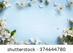 spring border background with... | Shutterstock . vector #374644780