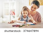 happy family. mother and... | Shutterstock . vector #374647894