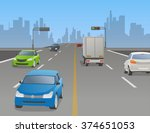 signalized intersection and... | Shutterstock .eps vector #374651053