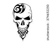 skull   vector skull   skull... | Shutterstock .eps vector #374652250