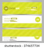 banner template. abstract... | Shutterstock .eps vector #374657734