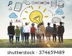 ideas learning strategy plan... | Shutterstock . vector #374659489