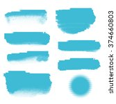 collection of blue color... | Shutterstock .eps vector #374660803