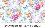 seamless composition  ... | Shutterstock . vector #374661820