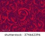 valentine's day roses... | Shutterstock . vector #374662396