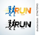 Run Club Logo Template. Sport...