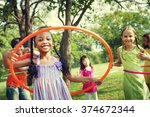 children playing friends... | Shutterstock . vector #374672344