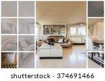 luxury spacious living room in... | Shutterstock . vector #374691466