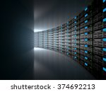 server room represented by... | Shutterstock . vector #374692213