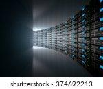 server room represented by... | Shutterstock . vector #374692213