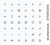line arrow icon set   vector | Shutterstock .eps vector #374692543