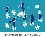 business solution. business... | Shutterstock .eps vector #374692570