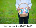 Close Up Of Colorful Easter...