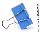 Four Binder Clips Isolated On...