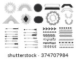 hand drawn vector design... | Shutterstock .eps vector #374707984