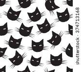 cats head animal pattern   Shutterstock .eps vector #374713168