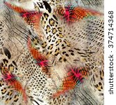Leopard Rounds Silk Scarf...