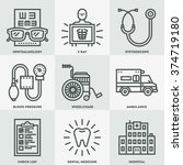 assorted medical icon set. line ... | Shutterstock .eps vector #374719180