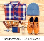men's casual clothes and... | Shutterstock . vector #374719690