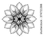 round mandala element for... | Shutterstock .eps vector #374721388