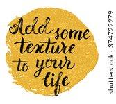 hand lettering typography... | Shutterstock .eps vector #374722279