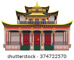 Detailed Buddhist Temple ...