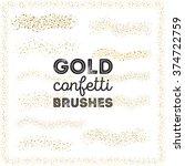 gold confetti scatter brushes... | Shutterstock .eps vector #374722759